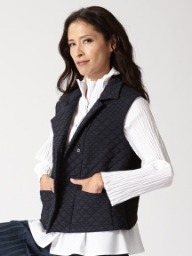 Quilted Vest by BABETTE