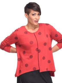 Red Thumbprint Londyn Top by Snapdragon & Twig