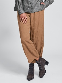 Renewed Crinkle Linen Flood Pant by Flax