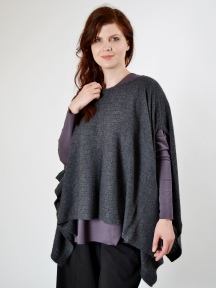 Rib Pullover Poncho by Kinross Cashmere