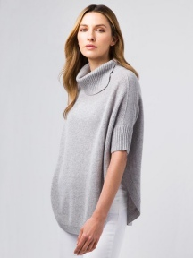 Rounded Hem Splitneck Cowl by Kinross Cashmere