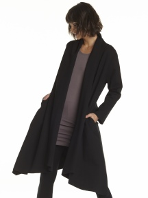 Shawl Collar Coat by Planet