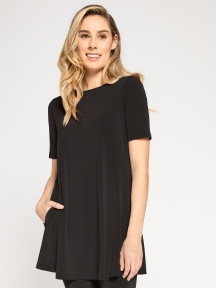 Short Sleeve Trapeze Tunic by Sympli