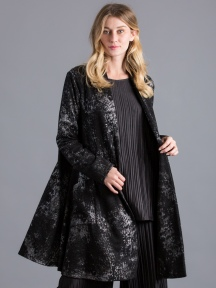 Silver Print Evening Jacket by Alembika