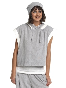 Sleeveless Hoodie by Planet