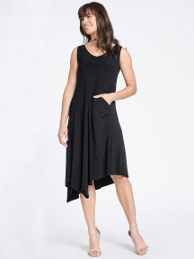 Sleeveless Slant Pocket Dress by Sympli