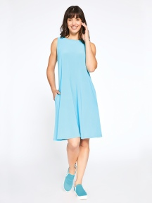 Sleeveless Trapeze Dress Short by Sympli