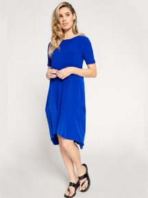 Solid Tuck Dress by Sympli