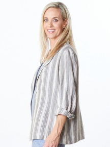 Stripe Alicia Jacket by Bryn Walker