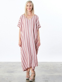Stripe Long Poncho by Bryn Walker