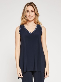 Stripe Trim Outline Tank by Sympli