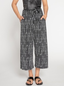 Stripe Wide Leg Trouser Crop