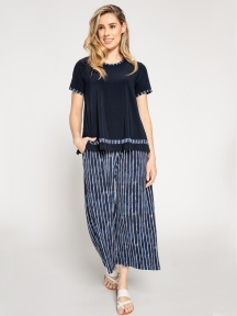 Stripe Wide Leg Trouser Crop by Sympli