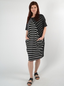 Striped Dolman Dress by Alembika