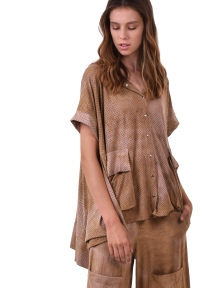 Suedette Hoody Poncho by Alembika