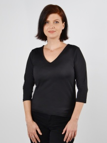 The 3/4 Sleeve V-Neck by A'nue Miami