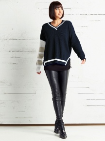 Thermal Varsity Sweater