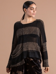Toffee Pocket Stripe Sweater by Alembika