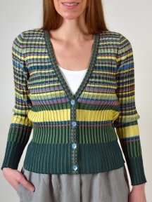 Tropic Striped Cardigan by Ivko