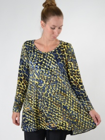 Tropical Print Pamela Tunic by Comfy USA