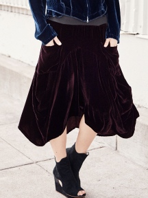 Velvet Skirt by Inizio