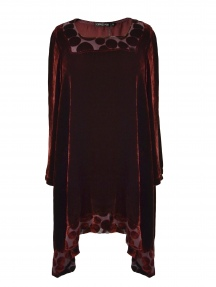 Velvet Tunic Blouse by Grizas