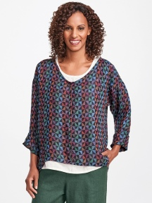 Whisperer Multicolor Linen Pullover by Flax