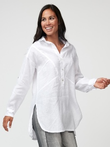 White Linen Shirt by Inizio