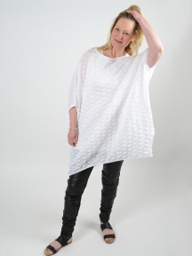 White Textured Cover-Up by Knit Knit
