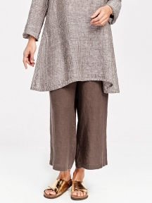 Wide Leg Cropped Pant by FLAX