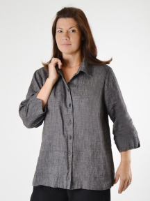 Wing Tip Blouse by FLAX