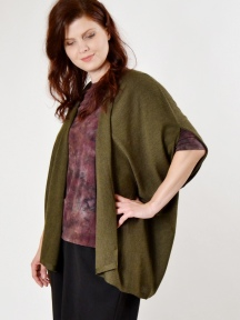 Worsted Ruana Vest by Kinross Cashmere