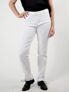 5 Pocket White Jean by Peace Of Cloth