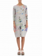 Abstract 3/4 Sleeve Dress by Grizas