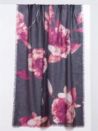 Autumn Bloom Print Scarf by Kinross Cashmere