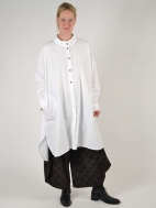 Big White Shirtdress by Moyuru