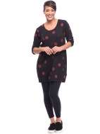 Black Thumbprint Sienna Tunic by Snapdragon & Twig