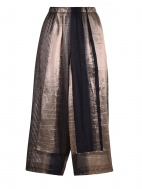 Black and Gold Shimmer Stripe Pant by Alembika