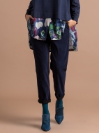 Blue Suedette Trousers by Alembika