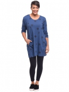 Blue Thumbprint Sienna Tunic by Snapdragon & Twig