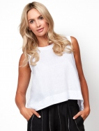 Boxy Cropped Tank by Inizio