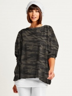 Camo Boxy Tee by Planet