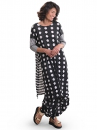 Charcoal Dot & Stripe Tunic by Alembika