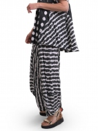Charcoal Striped Punto Pant by Alembika