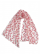 Cherry Pop Scarf by Dupatta Designs