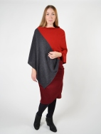 Colorblock Poncho by Kinross Cashmere