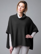 Contrast Cowl Poncho by Kinross Cashmere