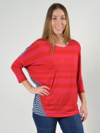 Contrast Stripe Top by Alembika