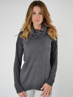 Cowl Neck Pullover by Kinross Cashmere