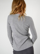 Crossover Neck & Sleeve Tee by Kinross Cashmere